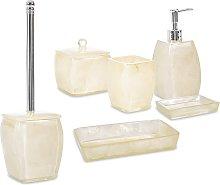 Set 6 pezzi accessori da bagno serie Perla Cipì