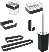 set 7 pezzi accessori da bagno serie 25 in acciaio