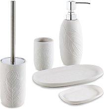Set accessori 5 pezzi in ceramica Dispenser
