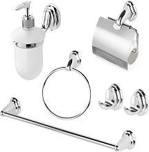 Set accessori bagno a muro basic