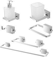 Set accessori bagno a muro dal design geometrico