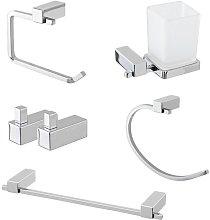 Set accessori bagno a muro dal design squadrato