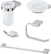 Set accessori bagno a muro design moderno
