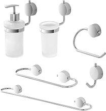 Set accessori bagno a muro doppia modalità di