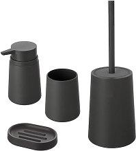 Set accessori bagno d'appoggio basic grigio