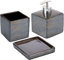 Set Accessori Bagno D'appoggio In Ceramica