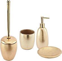 Set accessori bagno da appoggio 4 pezzi Dispenser
