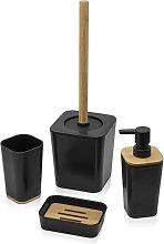 Set accessori bagno moderno in finitura nera opaca