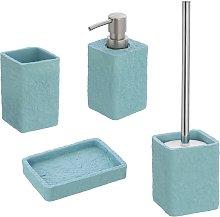 Set accessori bagno turchese pastello con P.