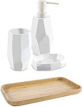 Set accessori da bagno 4 pezzi surface Bamboo di