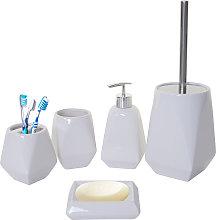 Set accessori da bagno HWC-C71 ceramica bianco