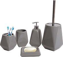 Set accessori da bagno HWC-C71 ceramica grigio