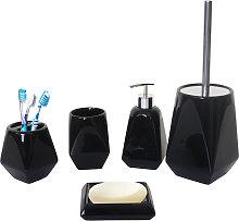 Set accessori da bagno HWC-C71 ceramica nero