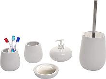 Set accessori da bagno HWC-C72 ceramica bianco