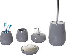 Set accessori da bagno HWC-C72 ceramica grigio