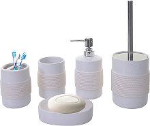 Set accessori da bagno HWC-C73 ceramica bianco