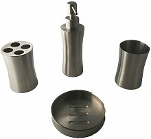 Set accessori da bagno in acciaio inox 4 pezzi