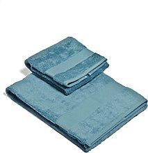 Set Asciugamano 2 Pezzi Azzurro