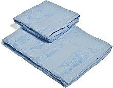 Set Asciugamano 2 Pezzi Blu Acqua