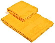 Set Asciugamano 2 Pezzi Giallo