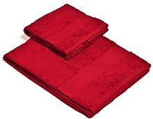 Set Asciugamano 2 Pezzi Rosso