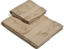 Set Asciugamano 2 Pezzi Tortora