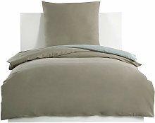 Set biancheria da letto in cotone 100%, taupe +