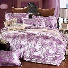 Set biancheria da letto in seta King Size, set