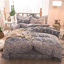 Set biancheria da letto king size floreale,