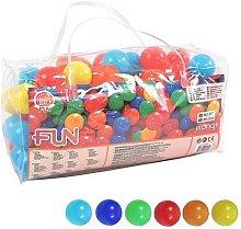 Set borsa 100 palline colorate 6,5 cm per