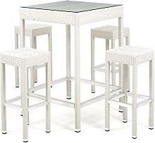 Set completo salotto tavolo Alto in pvc poly