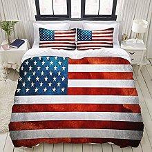 Set copripiumino, bandiera americana, set