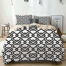 Set copripiumino beige, stampa arabesca effetto