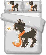 Set copripiumino Dog Star Cartoon 3 pezzi Set