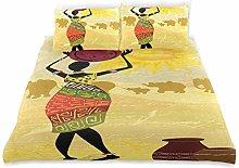 Set copripiumino donna africana elefanti sole
