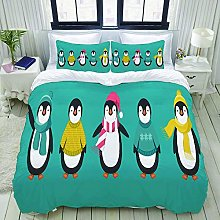 Set copripiumino, famiglia Penguin, set biancheria