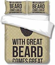 Set copripiumino Hipster Quotes Greate Beard Big 3