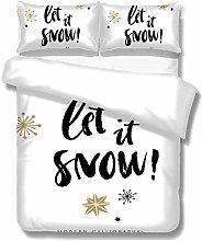 Set copripiumino Let It Snow Set di biancheria da