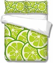 Set copripiumino Lime Pattern 3 pezzi Set di