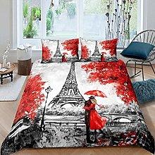 Set Copripiumino Matrimoniale Parigi Romantica,