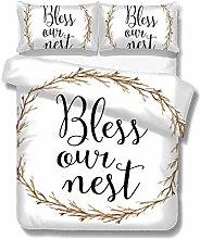 Set copripiumino Saying Bless Our Nest Set di