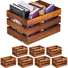 Set da 8 Cassette in Legno Portafrutta, Decorativo
