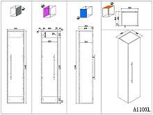 Set da bagno Roma XL 4 parti incl. armadio a