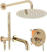 Set da vasca-doccia da incasso Rea Lungo L.Gold +