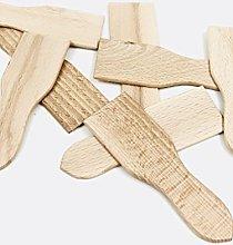 Set di 12 spatole per raclette, in legno,