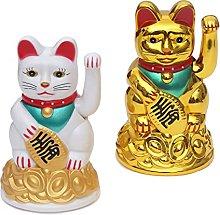 Set di 2 Gatti Che Salutano - Maneki-Neko Gatto