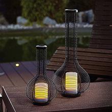 Set di 2 luci decorative solari lampada da