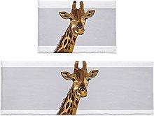 Set di 2 tappeti da bagno astratti giraffa