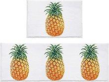 Set di 2 tappeti da bagno freschi ananas tappetino