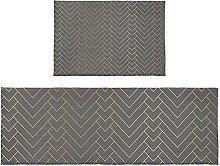 Set di 2 tappeti da bagno Textrue grigio